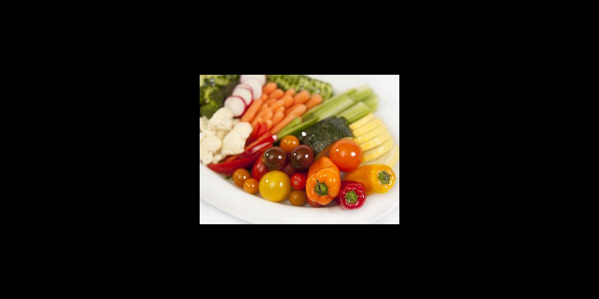 Penn State catering fresh vegetable platter